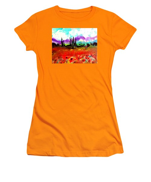 Tuscany Fields Women's T-Shirt (Athletic Fit)