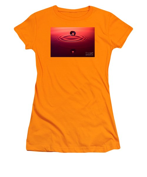 Two Drops And A Ripple Women's T-Shirt (Athletic Fit)