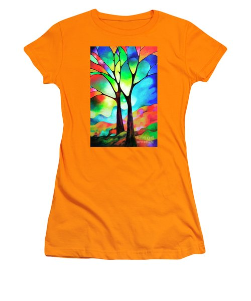 Two Trees Women's T-Shirt (Junior Cut) by Sally Trace