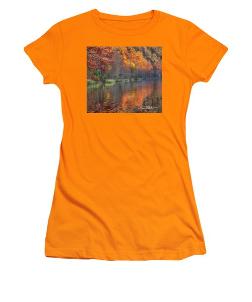Tyler Lake Women's T-Shirt (Junior Cut) by Tim Fitzharris