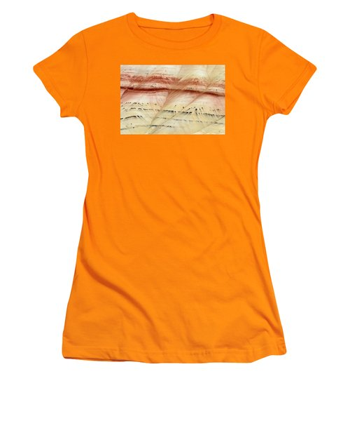 Women's T-Shirt (Junior Cut) featuring the photograph Up Close Painted Hills by Greg Nyquist