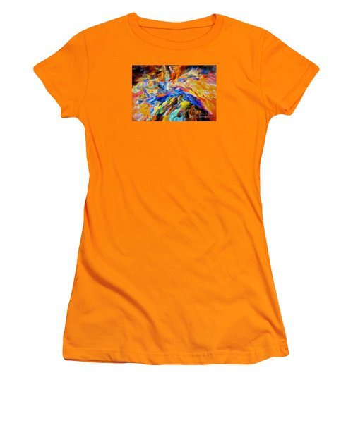updated Our God is a Consuming Fire Women's T-Shirt (Athletic Fit)