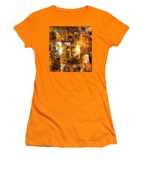 Women's T-Shirt (Junior Cut) featuring the mixed media Urban #3 by Kim Gauge