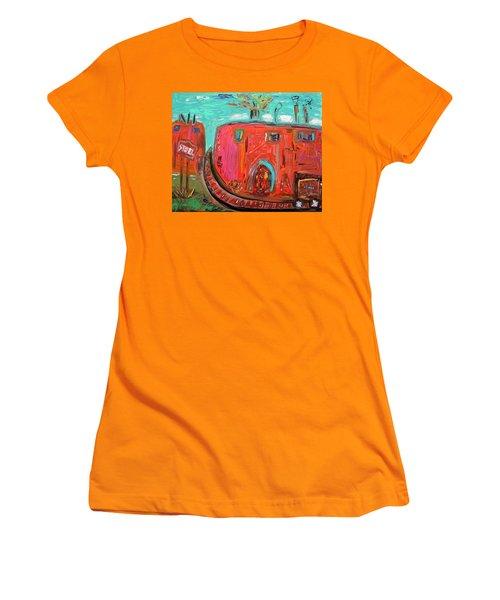 Usa Steel Still Fascinates Women's T-Shirt (Junior Cut) by Mary Carol Williams