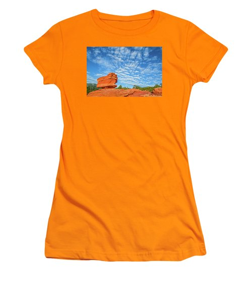 Vermillion Is The Color Of The Rock.  Women's T-Shirt (Athletic Fit)