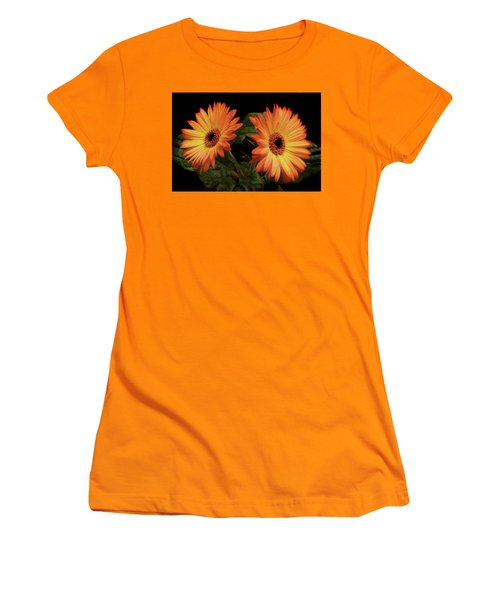 Vibrant Gerbera Daisies Women's T-Shirt (Athletic Fit)