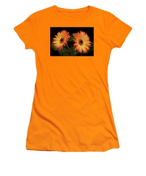 Vibrant Gerbera Daisies Women's T-Shirt (Athletic Fit)