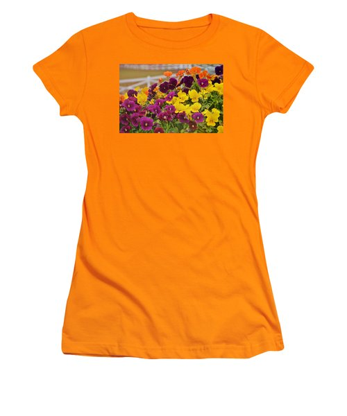 Vibrant Violas Women's T-Shirt (Junior Cut) by JAMART Photography