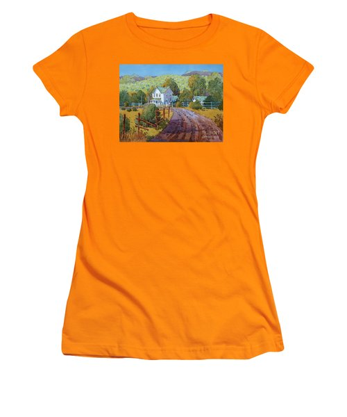 Vineyard Farm In Cambria Women's T-Shirt (Athletic Fit)