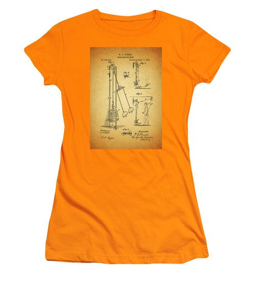 Vintage 1885 Exercising Device Patent Women's T-Shirt (Junior Cut) by Dan Sproul