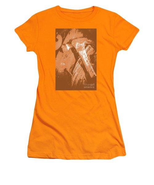 Vintage Miners Hammer Artwork Women's T-Shirt (Athletic Fit)