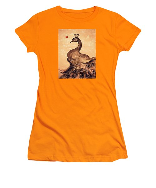 Vintage Peacock Women's T-Shirt (Athletic Fit)