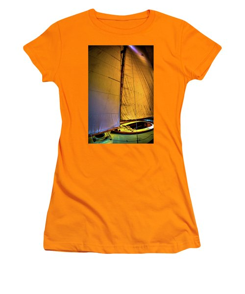 Women's T-Shirt (Athletic Fit) featuring the photograph Vintage Sailboat by David Patterson