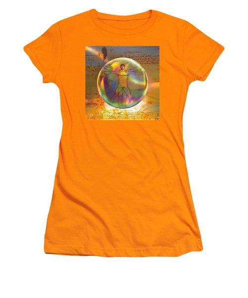 Vitruvian Vulcan Women's T-Shirt (Athletic Fit)