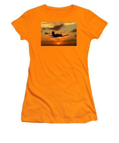 Vought Corsairs At Sunset Women's T-Shirt (Athletic Fit)