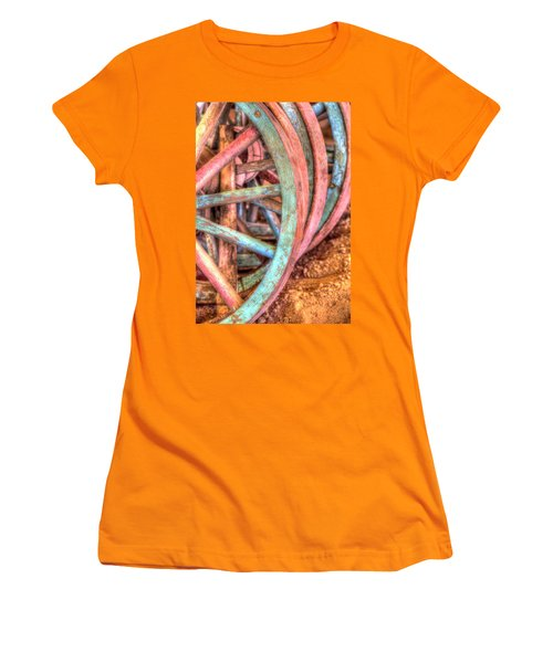 Wagon Wheels Women's T-Shirt (Athletic Fit)