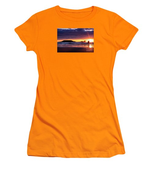 Wales Gower Coast Helvetia Women's T-Shirt (Athletic Fit)