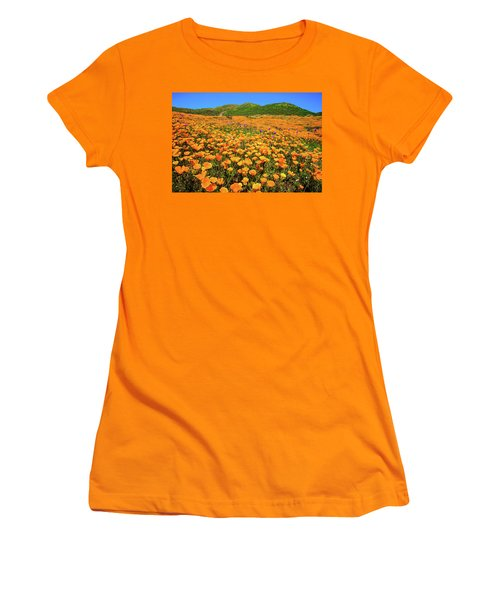 Walker Canyon Wildflowers Women's T-Shirt (Athletic Fit)