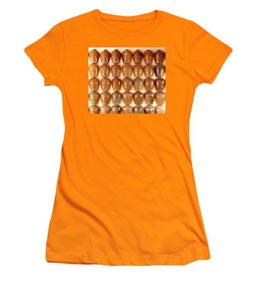 Wall Of Ceramic Jugs Women's T-Shirt (Athletic Fit)