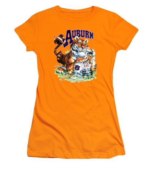 War Eagle  Women's T-Shirt (Junior Cut) by Herb Strobino