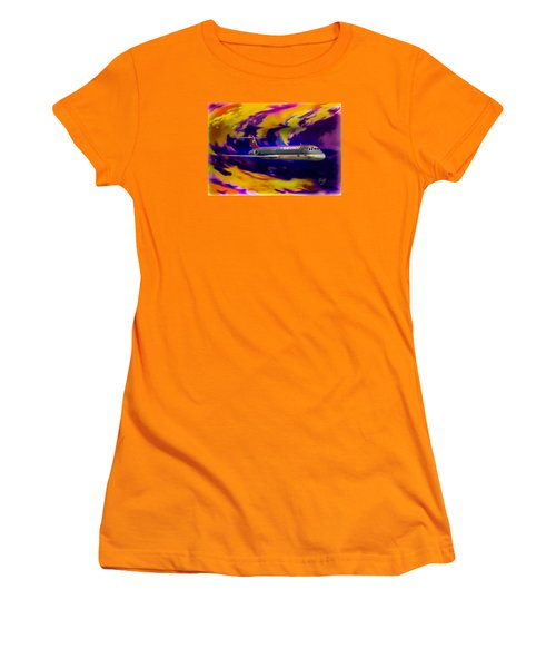 Warp 7 Women's T-Shirt (Junior Cut) by J Griff Griffin