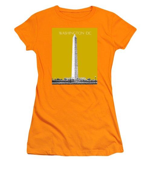 Washington Dc Skyline Washington Monument - Gold Women's T-Shirt (Athletic Fit)