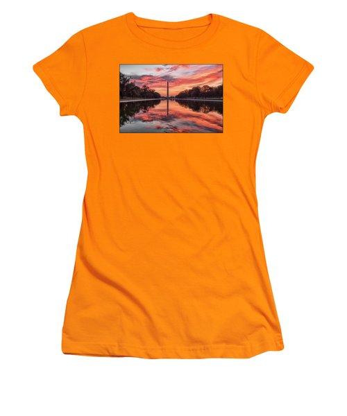 Washington Monument Sunrise Women's T-Shirt (Athletic Fit)