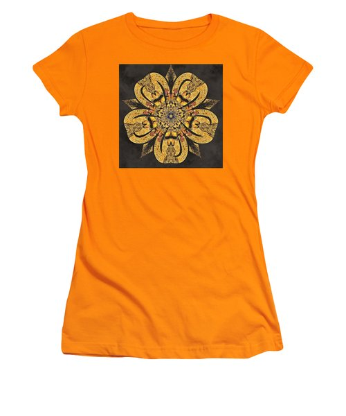 Women's T-Shirt (Athletic Fit) featuring the mixed media Water Glimmer 2 by Derek Gedney