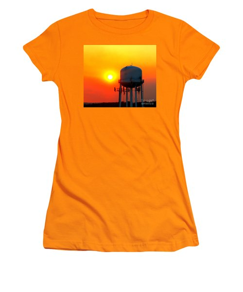 Water Tower Sunset Women's T-Shirt (Athletic Fit)
