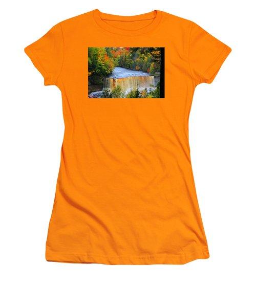 Waterfalls Of Michigan Women's T-Shirt (Junior Cut) by Michael Rucker