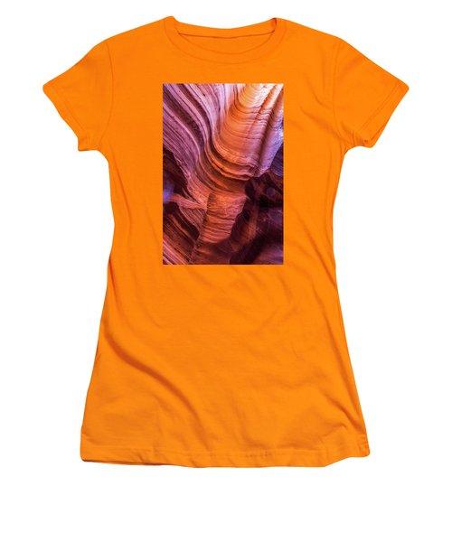 Waterholes Canyon Ribbon Candy Women's T-Shirt (Athletic Fit)