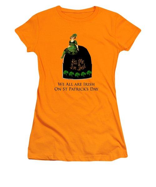 We All Irish This Beautiful Day Women's T-Shirt (Junior Cut) by Asok Mukhopadhyay