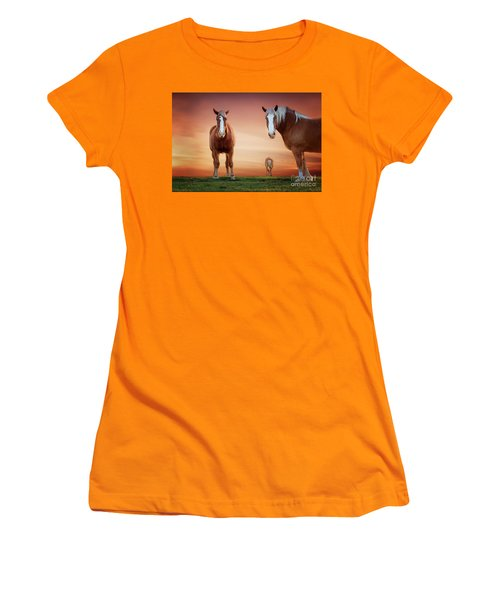 We're Listening Women's T-Shirt (Junior Cut) by Tamyra Ayles