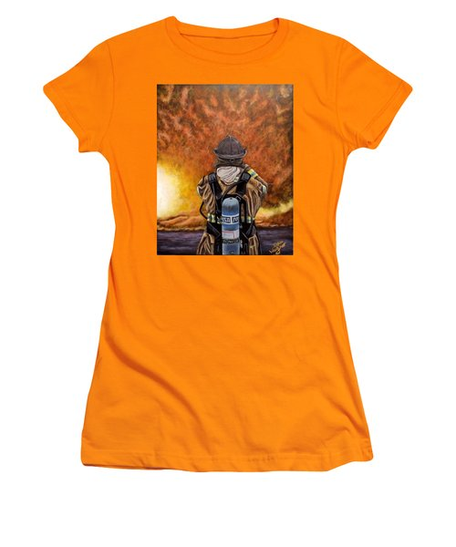 When Hell Comes To Visit Women's T-Shirt (Junior Cut) by Dan Wagner