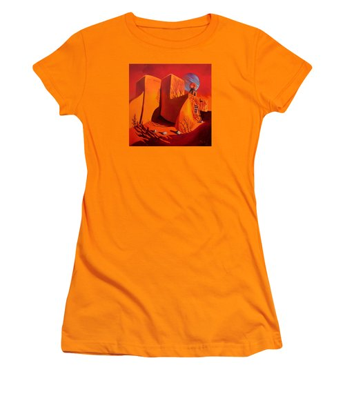 Women's T-Shirt (Junior Cut) featuring the painting When Jupiter Aligns With Mars by Art West