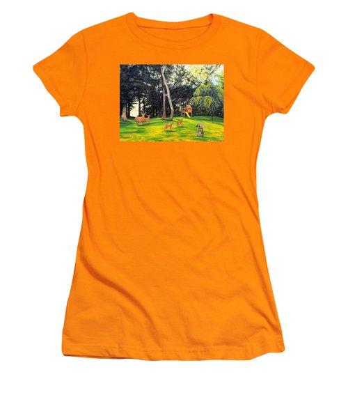 When World's Collide Women's T-Shirt (Junior Cut) by Kevin F Heuman