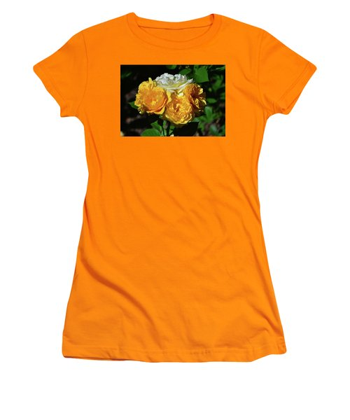 White And Yellow Rose Bouquet 001 Women's T-Shirt (Athletic Fit)