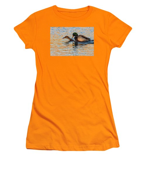 Wildlife Love Ducks  Women's T-Shirt (Athletic Fit)