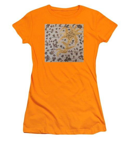 Windswept Golden Plantae #4 Women's T-Shirt (Junior Cut) by Rachel Hannah