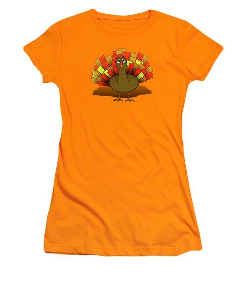 Worried Turkey Illustration Women's T-Shirt (Athletic Fit)