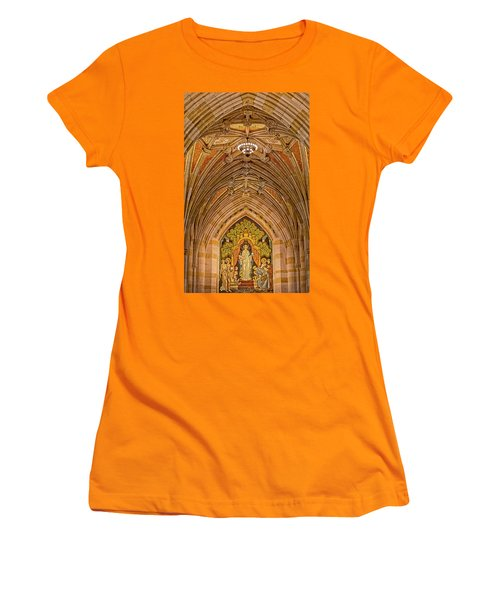 Women's T-Shirt (Athletic Fit) featuring the photograph Yale University Alma Mater by Susan Candelario