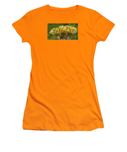 Yellow And Red Cactus Flowers Women's T-Shirt (Junior Cut) by Elvira Butler