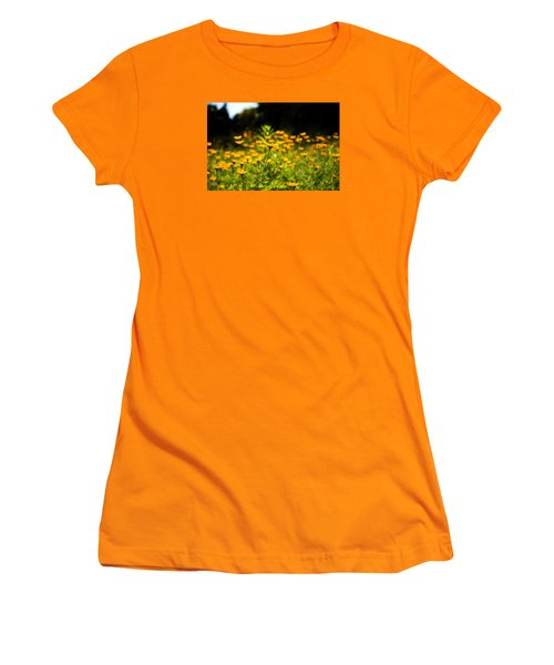 Yellow Field Women's T-Shirt (Junior Cut) by Milena Ilieva