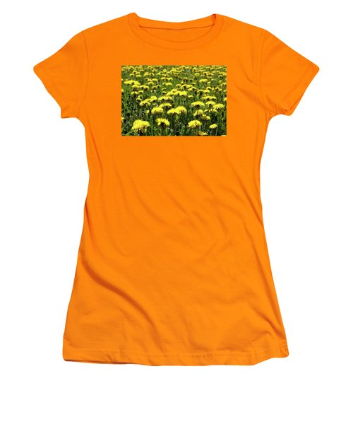 Yellow Field Two  Women's T-Shirt (Athletic Fit)