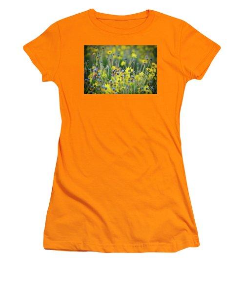 Yellow Flowers Women's T-Shirt (Junior Cut)