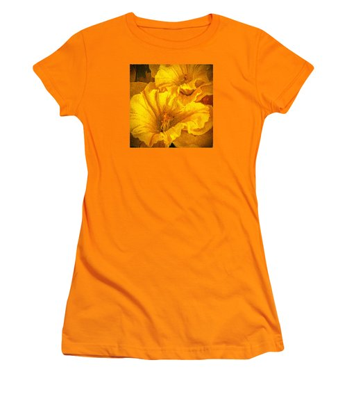 Yellow Flowers Women's T-Shirt (Junior Cut) by Lewis Mann