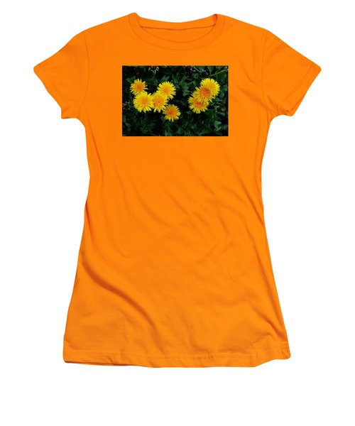 Yellow In Green Women's T-Shirt (Athletic Fit)