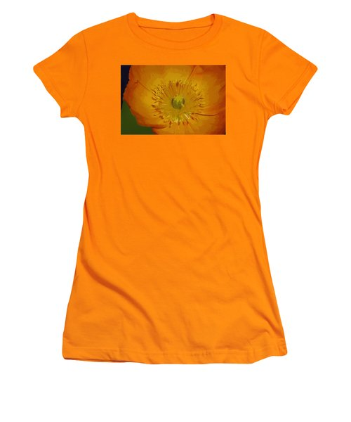 Women's T-Shirt (Junior Cut) featuring the photograph Yellow Poppy by Donna Bentley