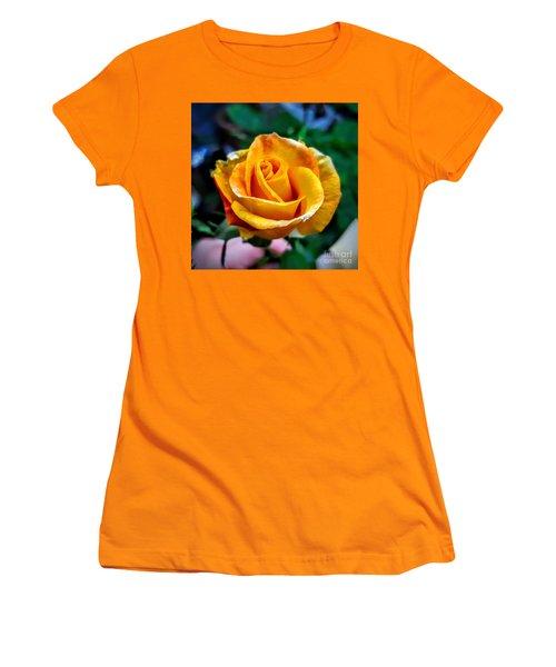 Yellow Rose Women's T-Shirt (Junior Cut) by Garnett Jaeger