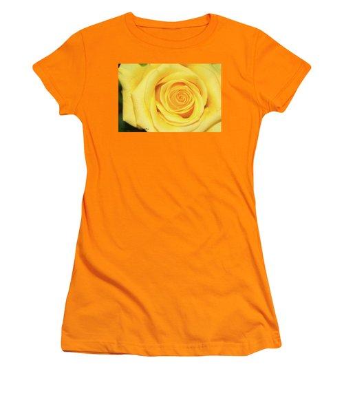 Yellow Rose Women's T-Shirt (Junior Cut) by Nance Larson